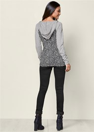 Back View Leopard Lace Up Lounge Top