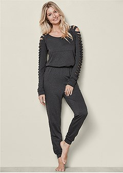 slash detail jumpsuit