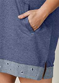 Alternate View Grommet Detail Lounge Dress