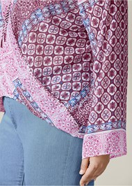Alternate view Printed Surplice Blouse