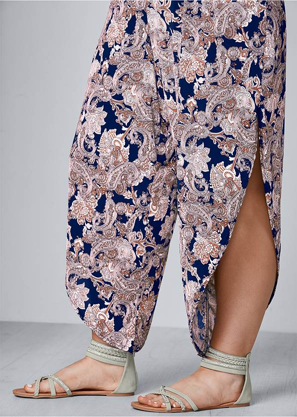 Alternate View Belted Paisley Jumpsuit