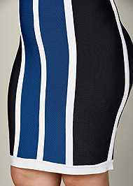 Alternate View Striped Bodycon Mini Dress
