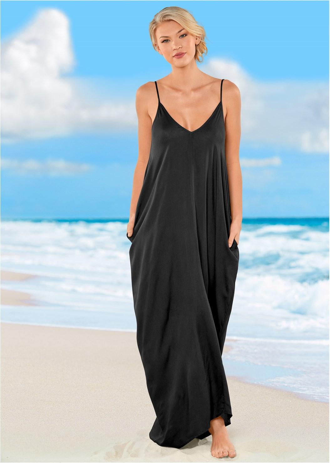Boho Maxi Dress Cover-Up,Lovely Lift Wrap Bikini Top,Lattice Side Bikini Bottom,Strappy Back One-Piece,Strappy Toe Ring Sandals