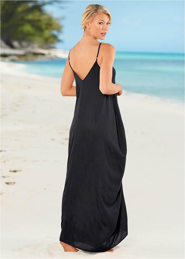 Back View Boho Maxi Dress Cover-Up