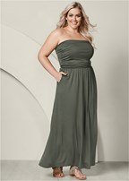 plus size pocket detail maxi dress