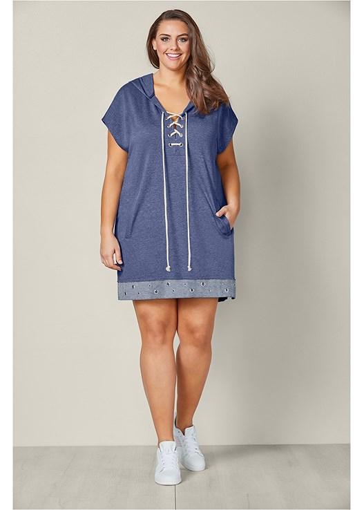 9f8aa6d65c0 Plus Size GROMMET DETAIL LOUNGE DRESS