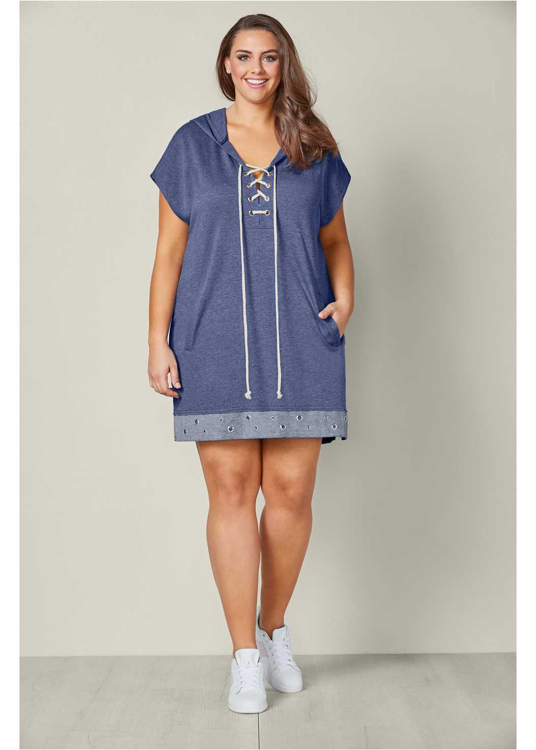 Grommet Detail Lounge Dress