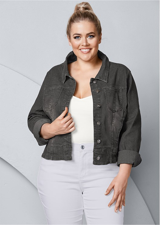 dcd3219d82 Plus Size JEAN JACKET