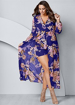plus size printed romper