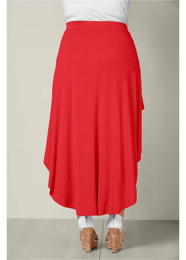 Back View Ruffle High Low Skirt