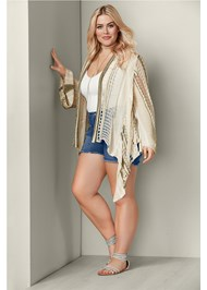 Front View Multicolor Cardigan