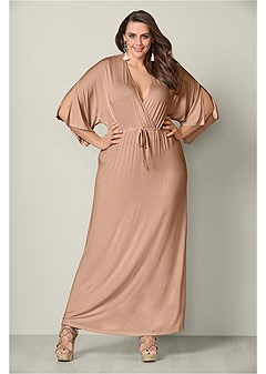 plus size kimono sleeve sleep dress