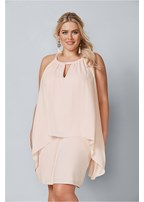 plus size keyhole mini dress