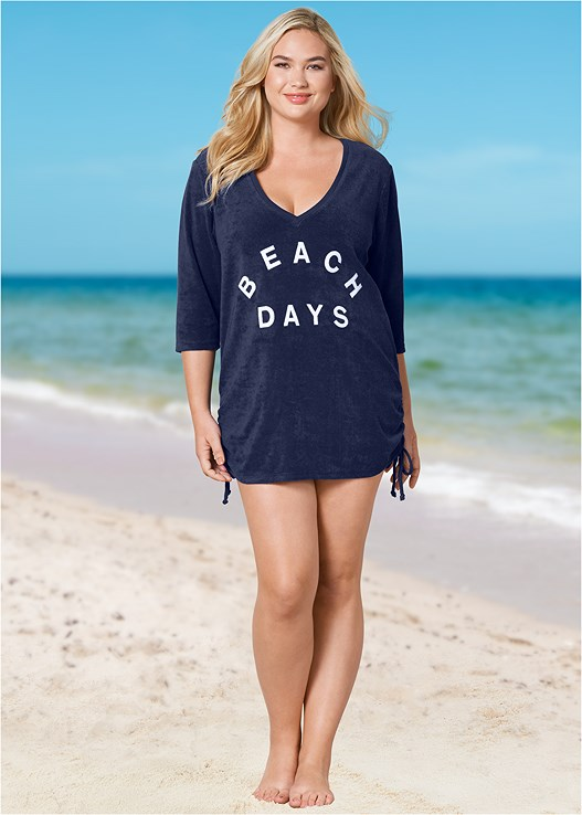 DEEP V BEACH COVER-UP