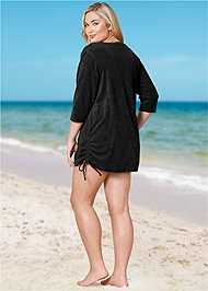 Back View Deep V Beach Cover-Up