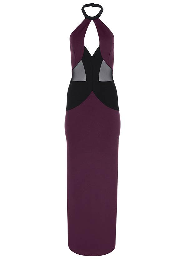 Alternate View Mesh Detail Long Dress
