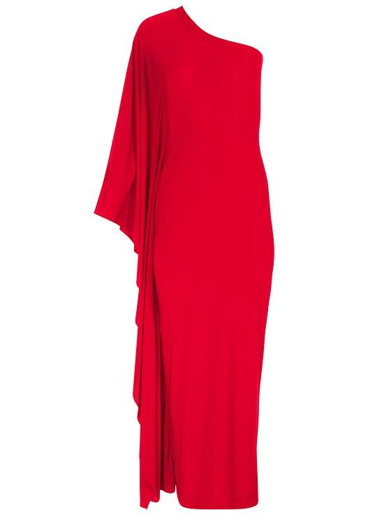 Plus Size One Shoulder Detail Dress Venus