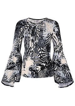 plus size tiered bell sleeve top