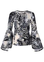 Alternate View Tiered Bell Sleeve Top
