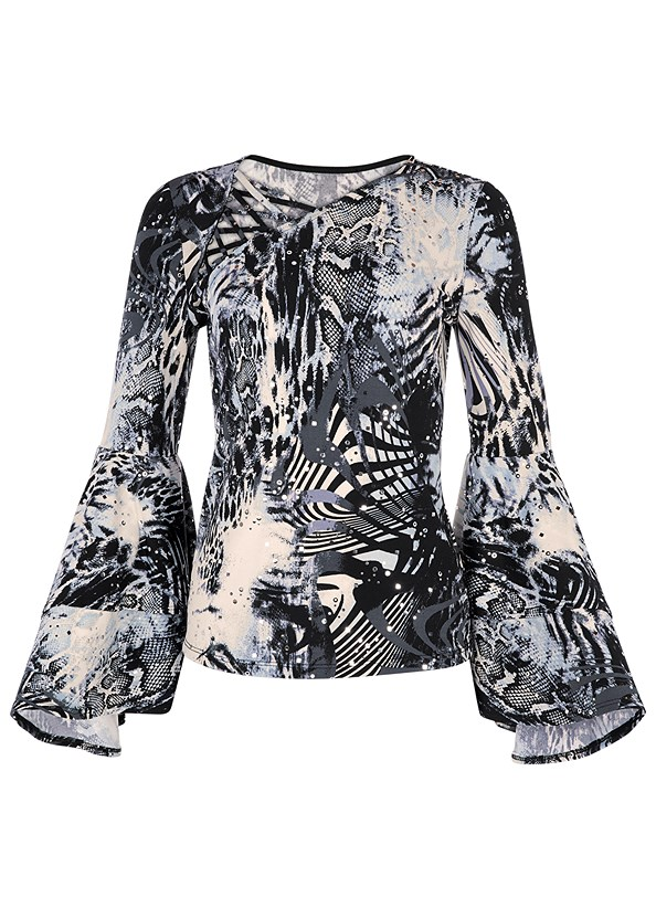 Tiered Bell Sleeve Top,Mid Rise Slimming Stretch Jeggings,High Heel Strappy Sandals