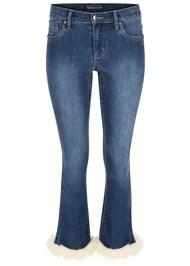 Alternate View Faux Fur Cuff Jeans