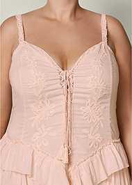 Alternate View Lace Up Ruffle Maxi Dress