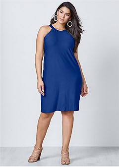 plus size casual a-line dress