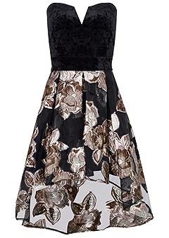 plus size strapless high low dress
