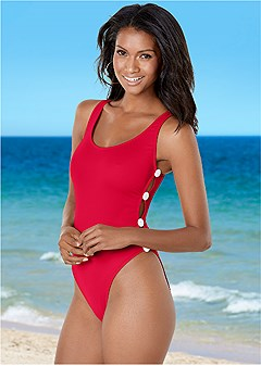 button side one-piece