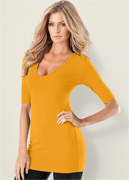 3236c26a3bb LONG AND LEAN TEE in Citrus