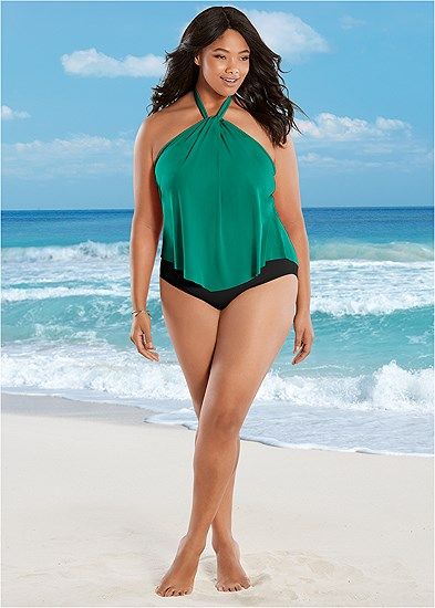 Plus Size One-Piece Swimsuits & Monokinis