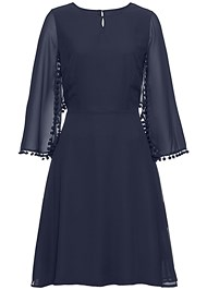 Alternate View Chiffon Cape Dress