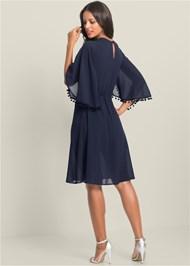 Back View Chiffon Cape Dress