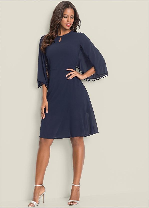 Chiffon Cape Dress