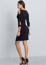 Back View Cut Out Detail Dress