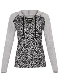 Alternate View Leopard Lace Up Lounge Top
