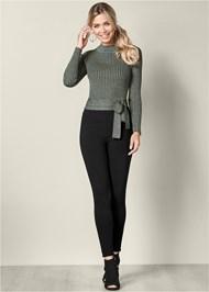 Alternate View Wrap Metallic Sweater