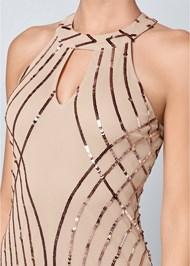 Alternate View Sequin Detail Long Dress