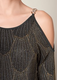 Alternate View Glitter Cold Shoulder Top