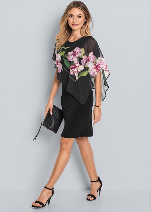 CHIFFON DETAIL DRESS