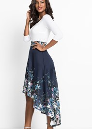 Alternate View High Low Floral Dress