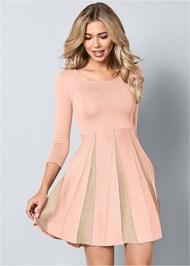 Front View Glitter Sweater Dress