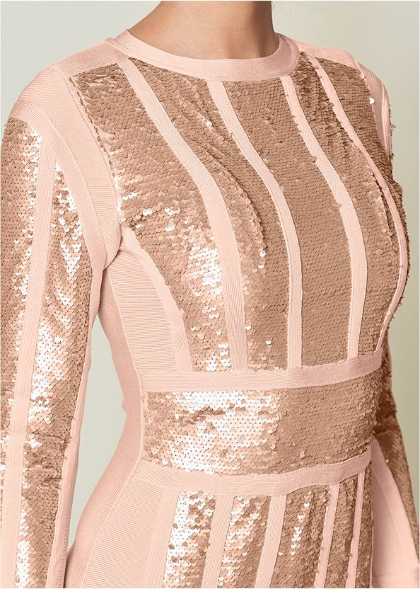 Alternate View Bandage Sequin Dress
