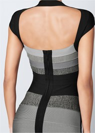Back View Bandage Color Block Dress