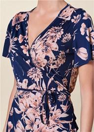 Alternate View Floral Print Wrap Dress