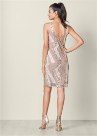 Alternate View Beaded V-Neck Dress
