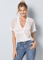 ruffle detail mesh top
