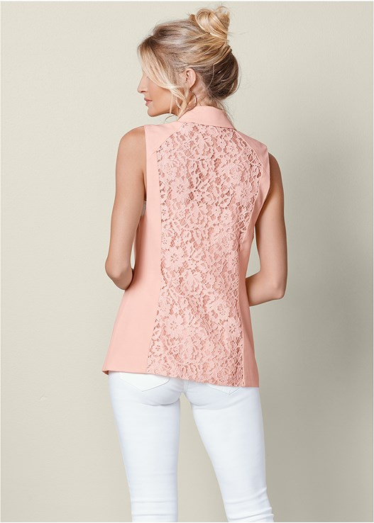 LACE DETAIL VEST,SEAMLESS CAMI,COLOR SKINNY JEANS,HIGH HEEL STRAPPY SANDALS