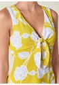 Alternate View Floral Tie Front Top