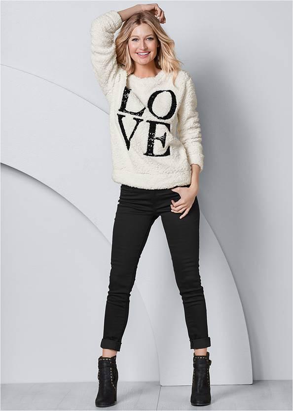 Front view Love Cozy Sweatshirt